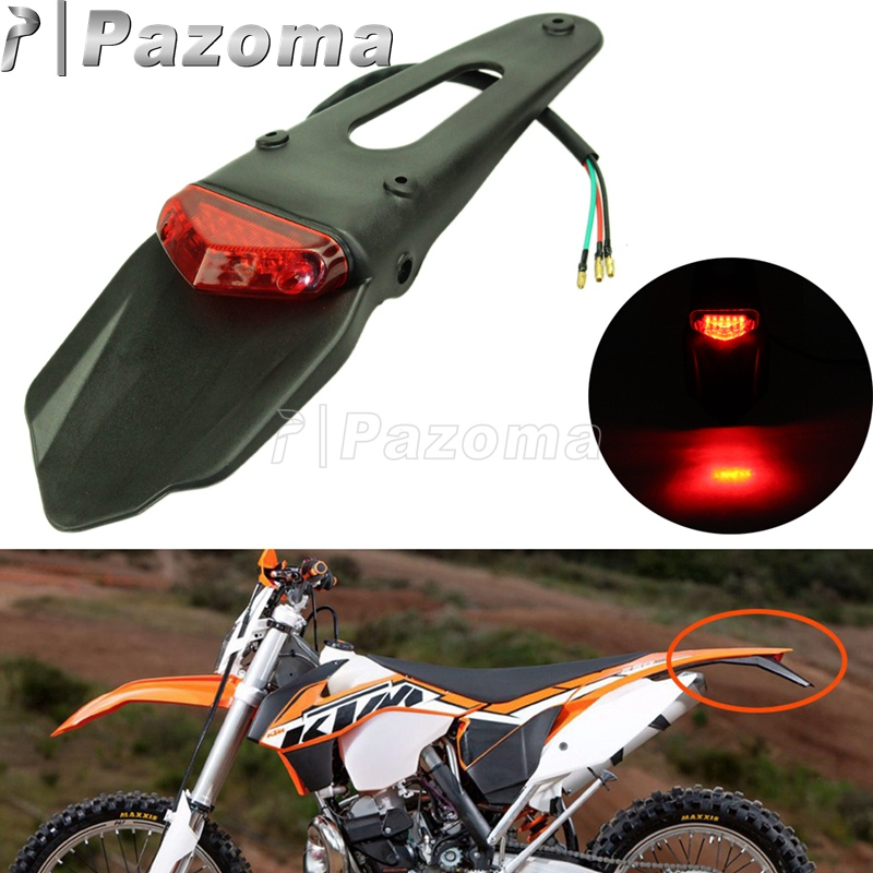 12V Motorcycle LED Tail Light Rear Fender MX Enduro Supermoto Brake Taillight Fender For KTM CR EXC WRF 250 400 426 450 Scooter