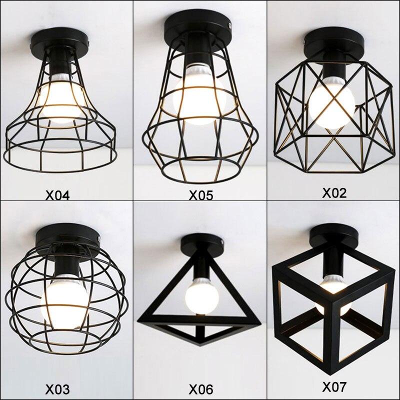 3D Geometric Designs Ceiling Lighting light with E27 Socket Iron CageLamp restaurant balcony study corridor ceiling lighting