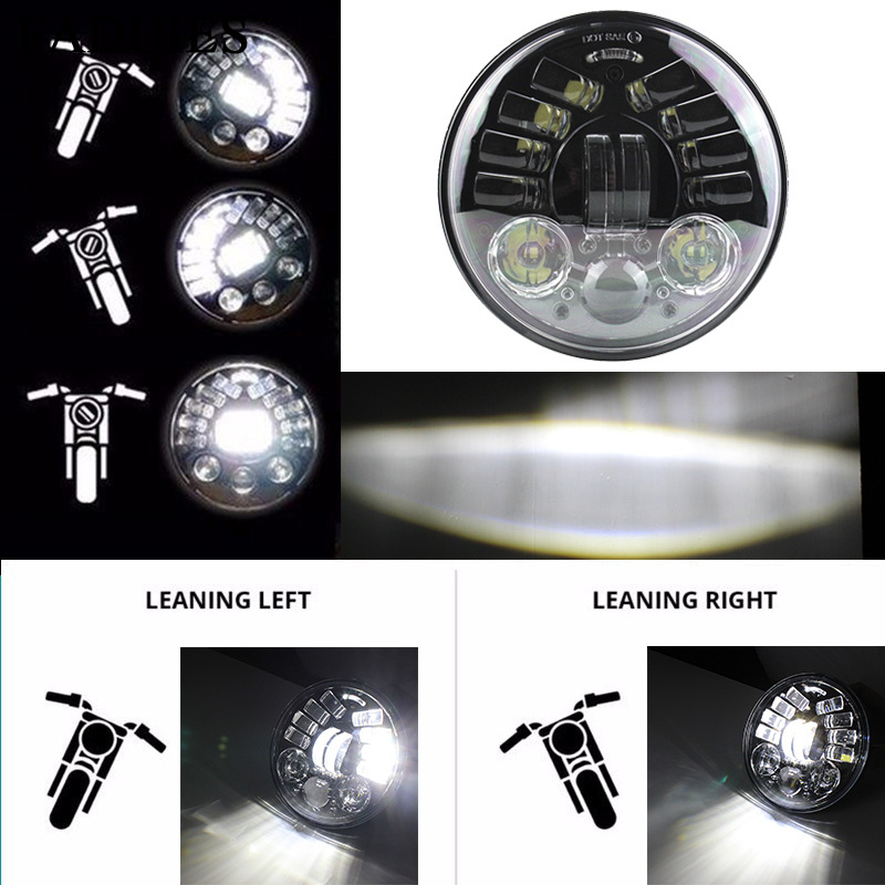 FADUIES 2018 New 5.75 inch Motorcycle Adaptive Cornering Led headlight For Harley 5-3/4