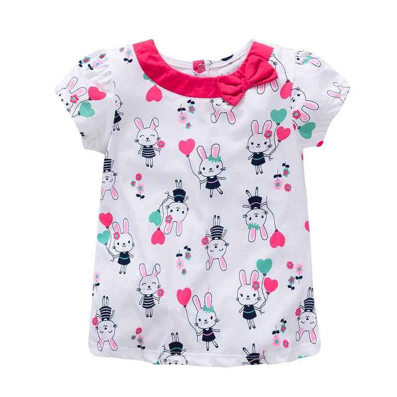 HTB13mN.ogMPMeJjy1Xdq6ysrXXaE - VIDMID baby Girl t-shirt big Girls tees t shirts children blouse t-shirts super quality kids summer clothes rabbit pink brand