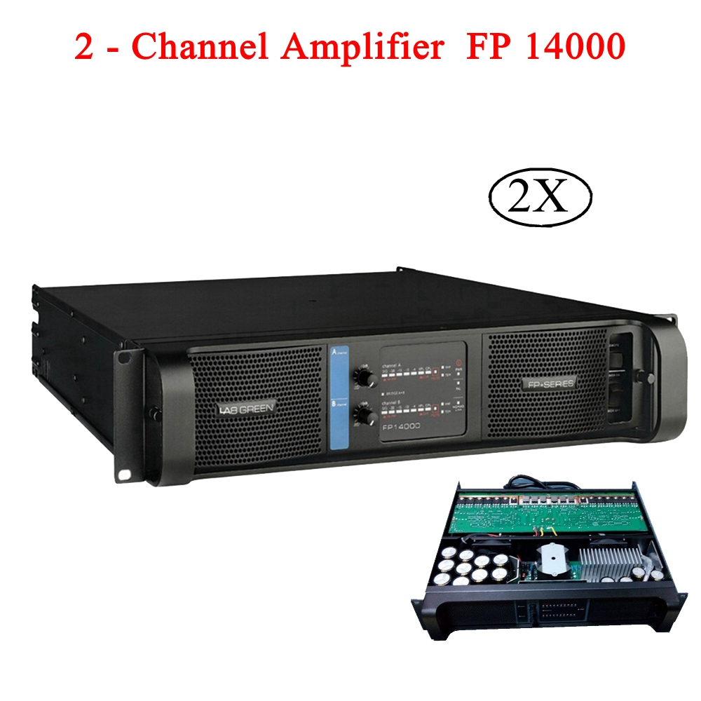 FP 14000 Power Amplifier 2x2350w/8ohm RMS Output Speaker Subwoofer Line Array 2 Channel High Power Amplifier For Disco DJ Party