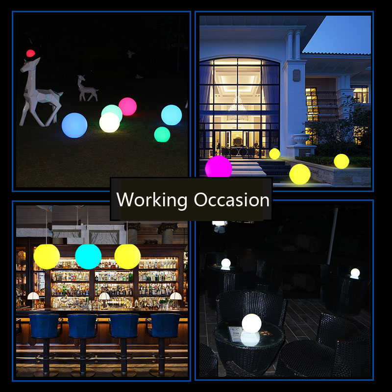 12cm Round LED Ball light Rechargeable Waterproof pearls lights with remote control 16 colors for wedding party decorations