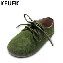 NEW Spring/Autumn Single Shoes Children Genuine Leather Shoes Boys Girls Casual Sneakers Student Baby Kids Flats 04