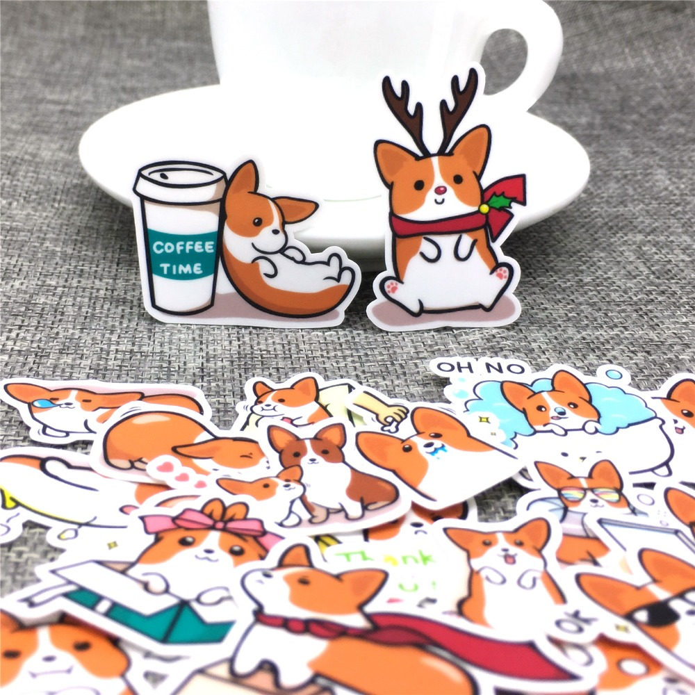 40 Different Christmas Reindeer Paper Sticker Decoration DIY Ablum Diary Stickers Scrapbooking Label Sticker Kawaii Stationery