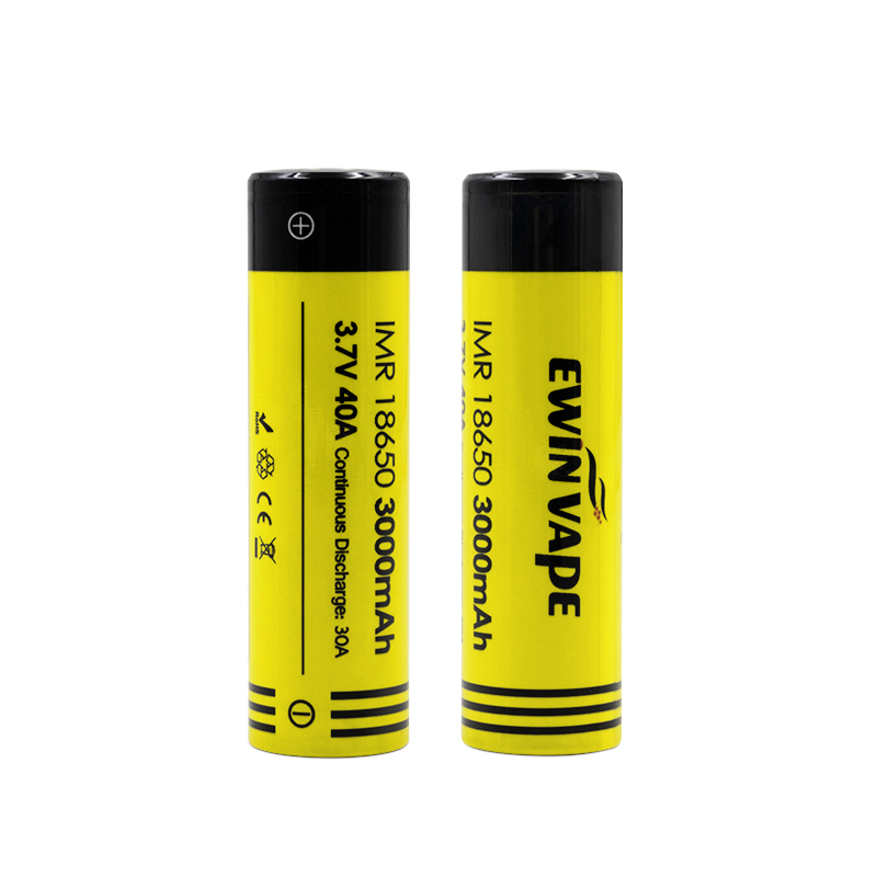 купить 2pcs Ewinvape 18650 IMR Battery 3000mah Bumblebee Rechargeable batteries for Electronic Cigarette Box Mod flashlight vs HG2 25R по цене 898.44 рублей