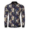 Vintage Floral Printed Men Spring Autumn Bomber Jacket Cool Skater Boy Slim Fit Stand Collar Coat Cardigans Male Outwear Dec22