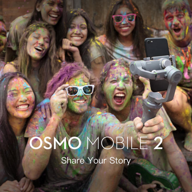 DJI Osmo Mobile 2 3-Axis Handheld Stabilizer for Smartphone 3-axis Handheld Gimbal Stent Zoom Control Panorama 5