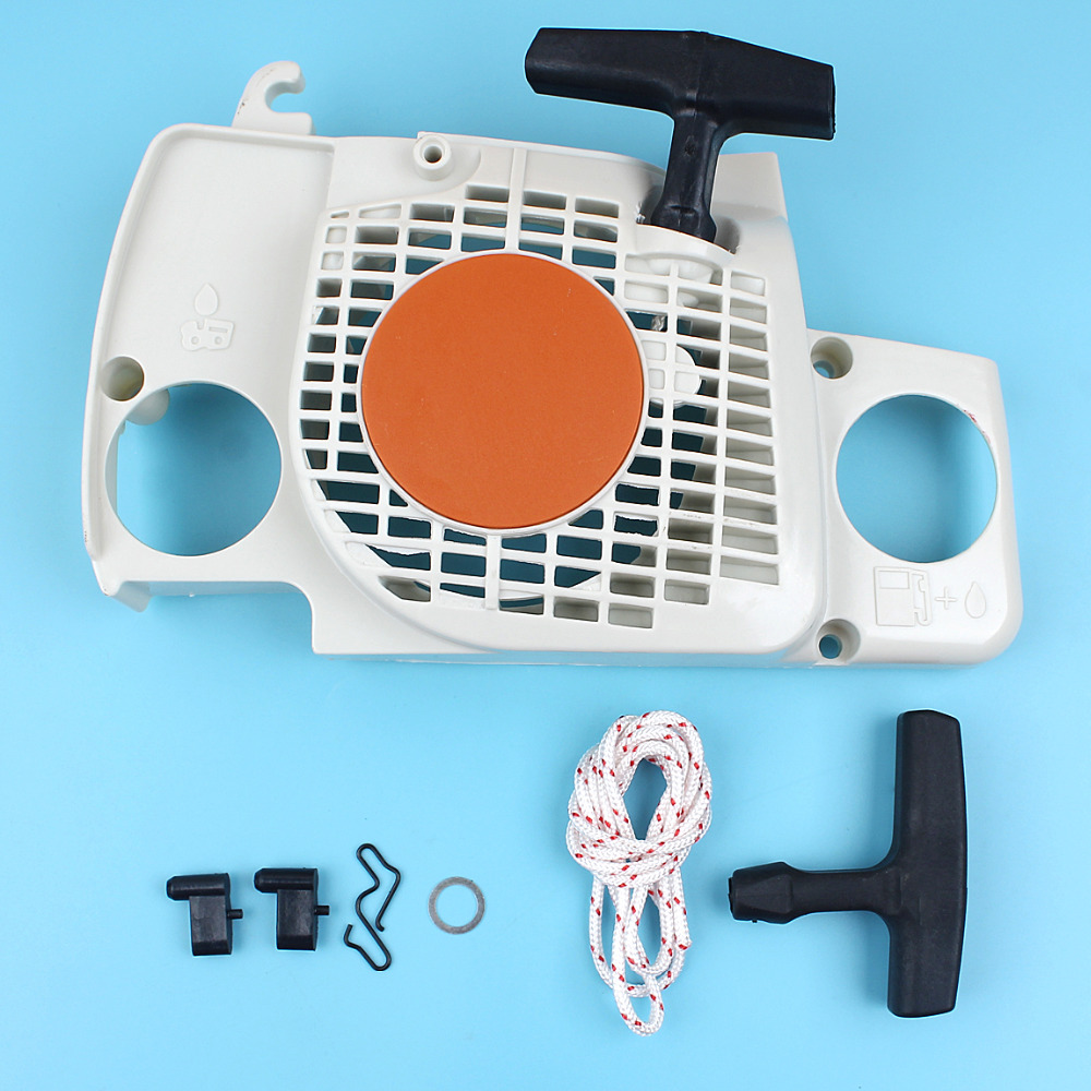 Starter Recoil Hanlde Grip Rope Start Pawl Kit For Stihl 017 018 MS180 MS170 MS180C MS 180 170 180C Chainsaws Replace Spare Part chainsaw starter handle grip pawl set with spring washer fit stihl 017 018 021 023 025 ms180 ms250 parts