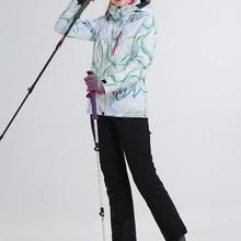 LANLAKA брендовый лыжный костюм для женщин, Куртки для сноубординга+ штаны, теплое зимнее пальто, дышащий, опционально, красочные лыжные комплекты для женщин