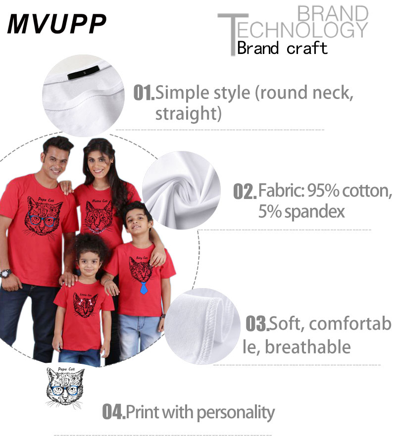 HTB13mNsbLWG3KVjSZPcq6zkbXXax - papa mama little baby family matching clothes cat funny t shirt mother daughter outfits father son mommy and me look mum mama