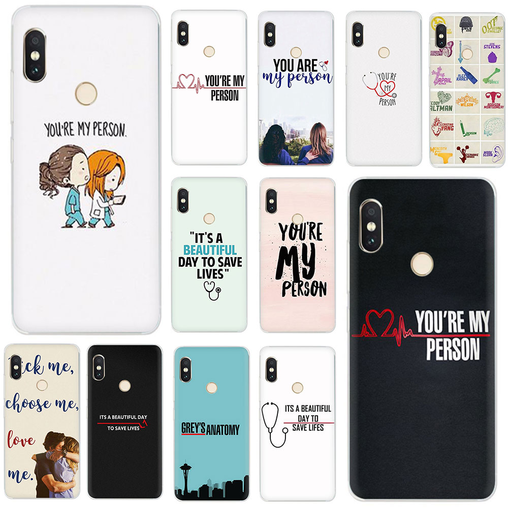 <font><b>Greys</b></font> <font><b>Anatomy</b></font> You're My Person hard Phone <font><b>Case</b></font> for Xiaomi Mi MAX 3 9 8 SE 6 5S A2 Lite Mix 2S A1/5X A2/6X F1 9T CC9e A3 pro image