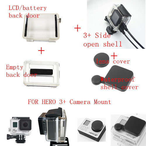 For Go Pro Hero 3 Plus Side Open Housing Case Mount Lcd Bacpac Ventilation Backdoor Mount For Gopro Hero 3 Camera Lens Samsung Lcd Tv Size Calculatorlens Cap Aliexpress