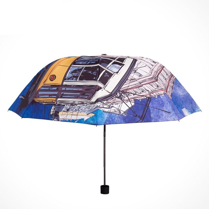 YADA Dropshipping Charms BUS Pattern Umbrella Rain Women uv High Quality Umbrella For Womens Windproof Folding Umbrellas YS117 in Umbrellas from Home Garden