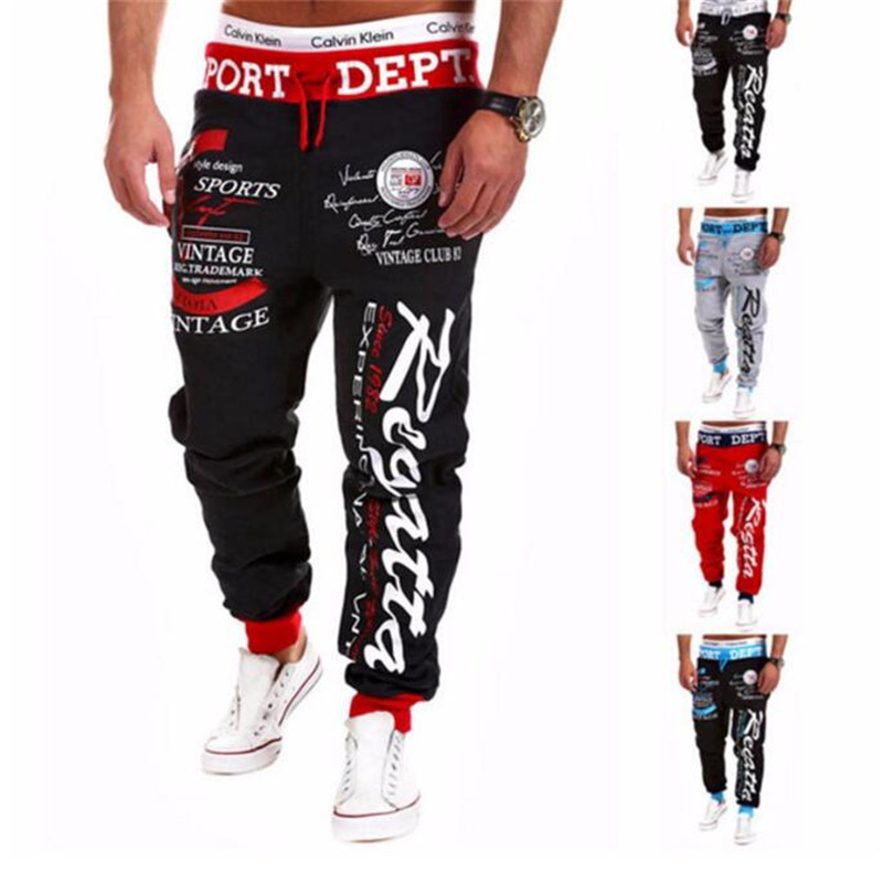 Pants 2016 Hot Sale Baggy Mens Letter Printing Baggy Harem Cool Long Pants Joggers Wear 21 Styles Plus Size M-XXXL Drawstring