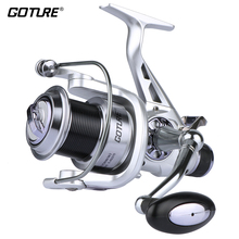 Goture Metal Spool Fishing Reel Spinning Reel Coils 11BB Double Drag System Long Casting Carp Wheel For Fishing 5.2:1