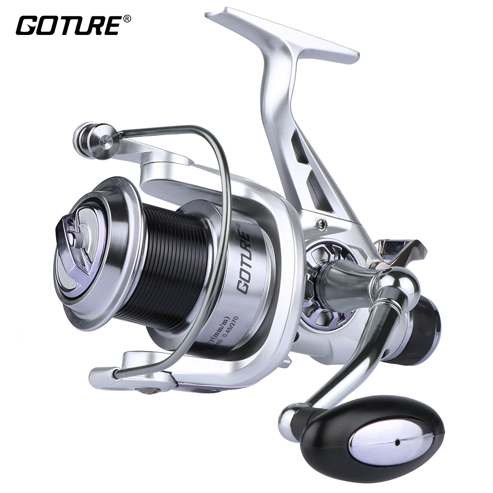 Goture Saltwater Spinning Reel Wheel 11 BB Double Drag Metal Spool Handle Carp Bait Runner Feeder
