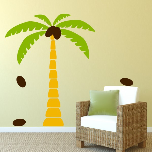 Palm Tree Wall Decals Wall Sticker Tree Vinyl Decals Home Decoration Wall  Art Living Room Decor Wall Stickers In Wall Stickers From Home U0026 Garden On  ...
