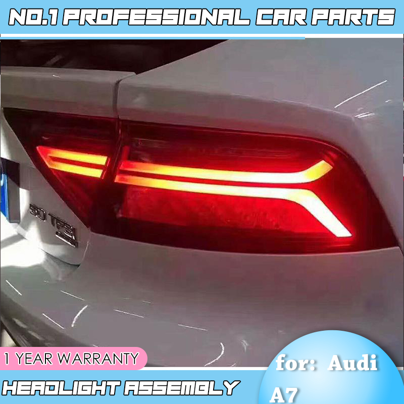 Binfu for Audi A7 Tail Lights 2011-2017 LED Tail Light Rear Lamp moving turn signal light Taillight Accessories Car Styling