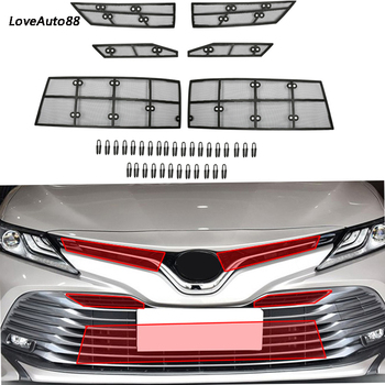 For Toyota Camry 8th 2018 2019 Car Insect Screening Mesh Front Grille Insert Net Accessories Car Stylings