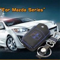 Car Key Case Key Chain Cover For Mazda 2 3 Axela 2009 2012 2014 2016 Mazda