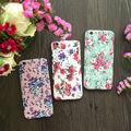 360 grau completo proteger luxo vintage floral pc phone case com vidro temperado para o iphone 5,6, 6 s, 6 além disso, 7,7 mais cobertura moda