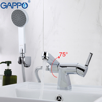 GAPPO New wall mixer tap Bathtub Faucet set bathroom shower faucets wall shower Brass bathtub sink mixer waterfall faucet G1204