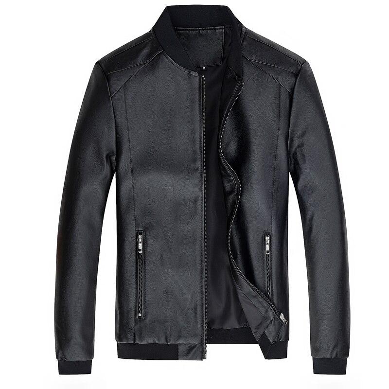 Men's PU Jacket Outerwear Leather Coat Spring Slim Fit Faux Leather Motorcycle Biker Jacket Men Male Coats Brand Clothes