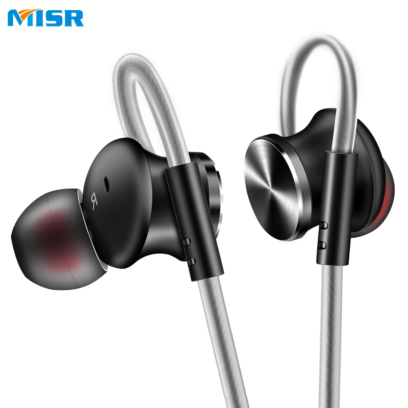 MISR T3 Wired Earphone Metal In-Ear Headset Magnet for Phone with Mic Microphone Stereo Bass Earbuds cbaooo stereo earphone wired in ear headset ear hook earbuds headphone with microphone noise canceling earphones for phone pc
