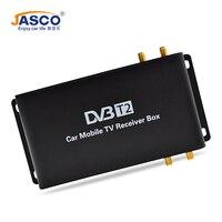 Jasco автомобиля DVB T2 DVB T MPEG4 цифровой ТВ коробка 4 антенны Поддержка 180 200 км/ч Скорость вождения Цифровой автомобиль ТВ тюнер 1080 P ТВ приемник