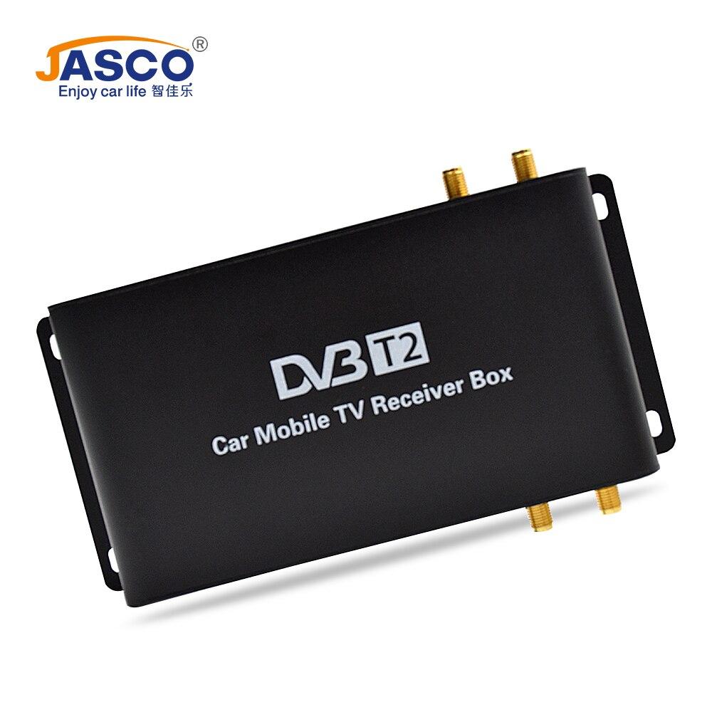 Jasco Voiture DVB-T2 DVB-T MPEG4 Numérique TV Box 4 Antennes Soutien 180-200 km/h Vitesse Conduite Numérique De Voiture TV tuner 1080 p TV Récepteur