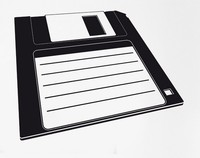 Fashion Computer Office Vinyl Wall Decal IT PC Retro Computer Diskette Internet Mural Art Wall Sticker Room Home Decoration