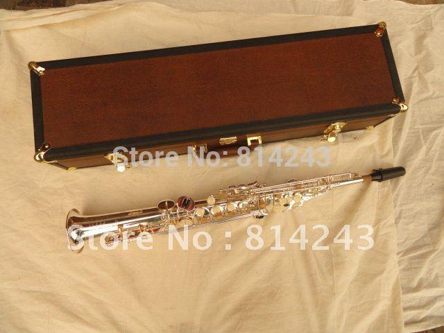 BB Soprano Saxophone One Tube The Jie Pute Type Sax Silver Surface Carve Patterns Saxophone Soprano Instrument JPS-547 jps навигаторы купить в самаре