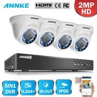 ANNKE 1080P 4CH HD TVI H 264 DVR 2MP Outdoor IR Night Security Camera System