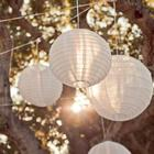 1pcs White Color style paper lanterns 12 inch wedding lanterns paper lampshade holiday party supplies