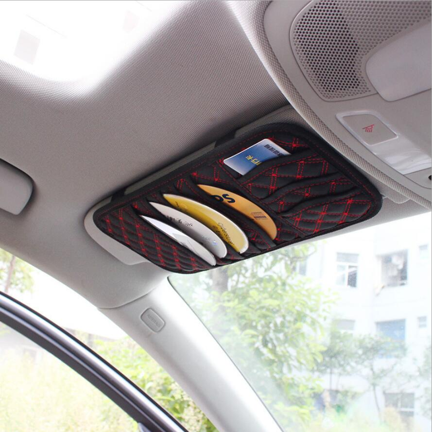 Kosoo Car Styling Cd Dvd Sun Visor Storage Holder 5 Disc Case Auto Travel Pocket For Card 32 15 0 5cm In Fastener Clip