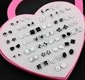 Jewelry Wholesale Lot 36 Pairs Mixed Styles Black White Cartoon Plastic Stud Earrings for Women Hypoallergenic Earrings ME189