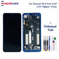 "Original For 6.26"" Xiaomi Mi 8 Lite Mi8 Lite LCD Screen Display+Touch Panel Digitizer+Frame For Xiaomi MI 8 Youth Assembly"