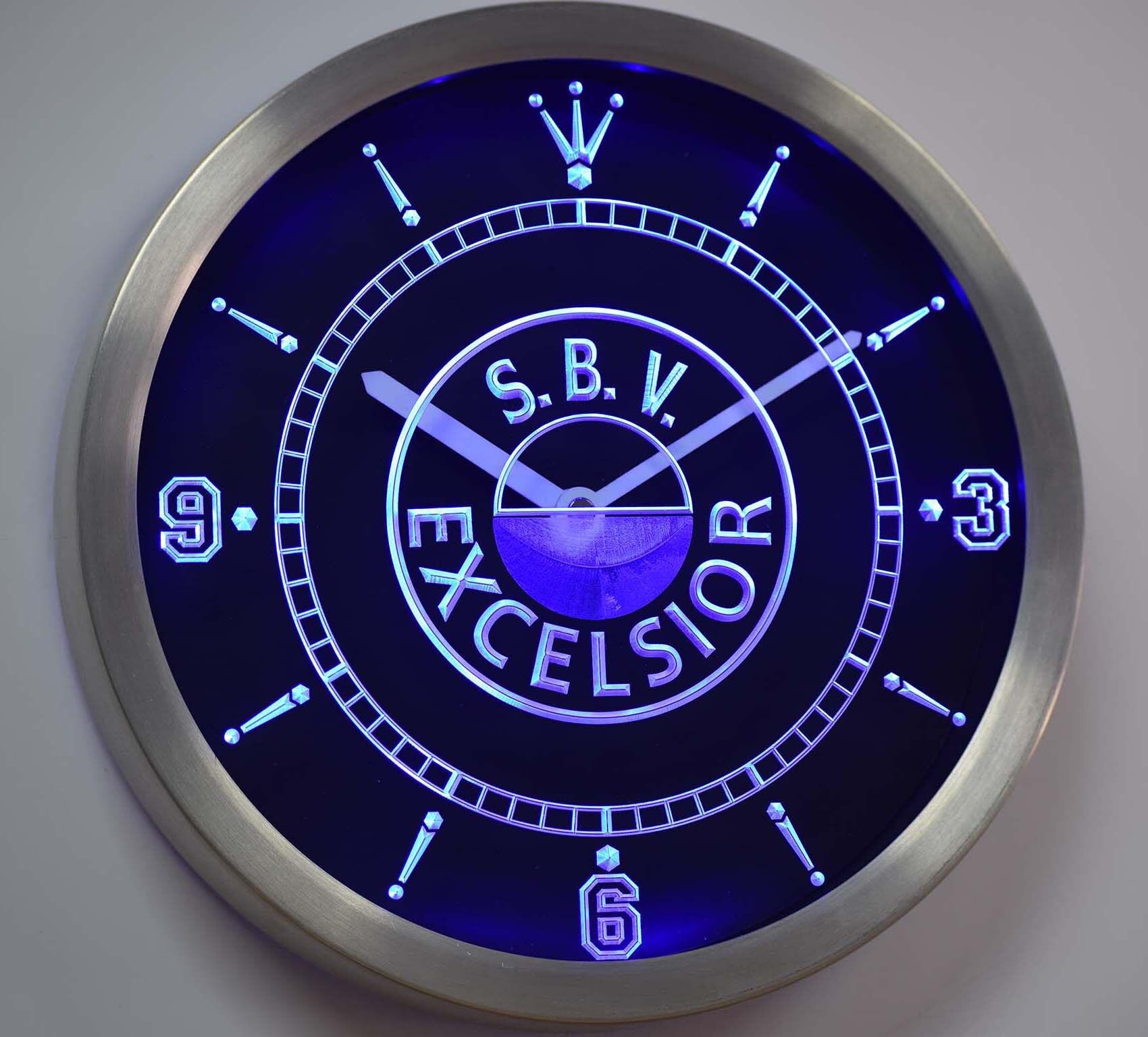 Nc1022 S.B.V. Horloge de mur LED au néon de Football