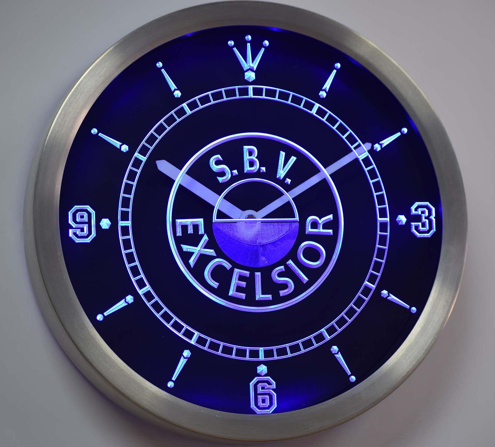 nc1022 S.B.V. Excelsior Dutch Eredivisie Football Neon Sign LED Wall Clock ...