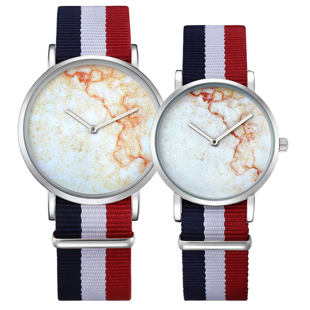 CAGARNY Fashion Women Watches Nylon Strap Bracelet Quartz Sport Watch Unique Ultra Slim High Quality Lover Gifts Wristwatch Hour