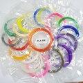 100 Metros 20 Colores Al Azar 1.75mm Hilos de Material PLA 3D Filamento Impresora Pluma