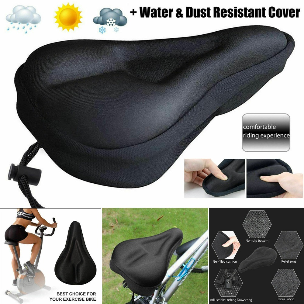 Soft Saddle Pad Cushion Cover Gel Silicone Seat for Mountain Bicycle Bike Saddle