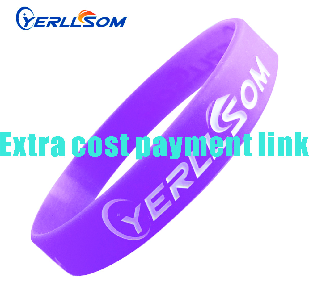 YERLLSOM CUSTOM rubber silicone vape bands with printed logo extra cost for events  extra cost S0512427-in Charm Bracelets from Jewelry & Accessories    1