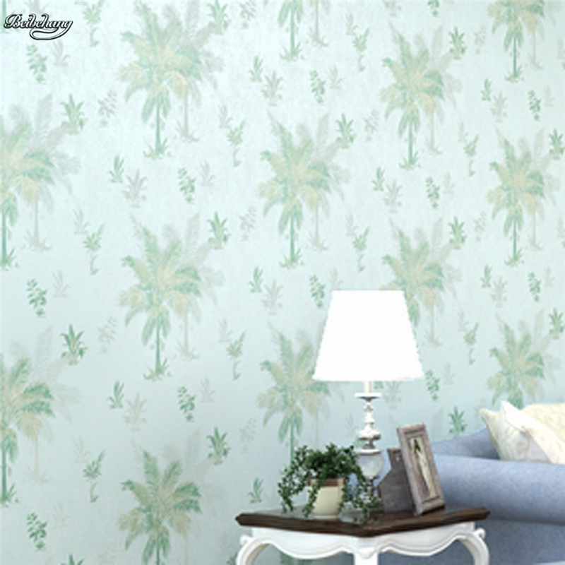 beibehang Retro Pastoral Non-woven Wallpaper Bedroom Full House 3D TV Background Southeast Asia Wind Palm Tree AB Edition mary pope osborne magic tree house cd edition books 17 24