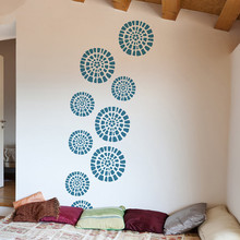 Home Special Decor Rural Patterned Circle Vinyl Wall Sticker Popular Waterproof Art Mural Beauty Wallpaper Y-927