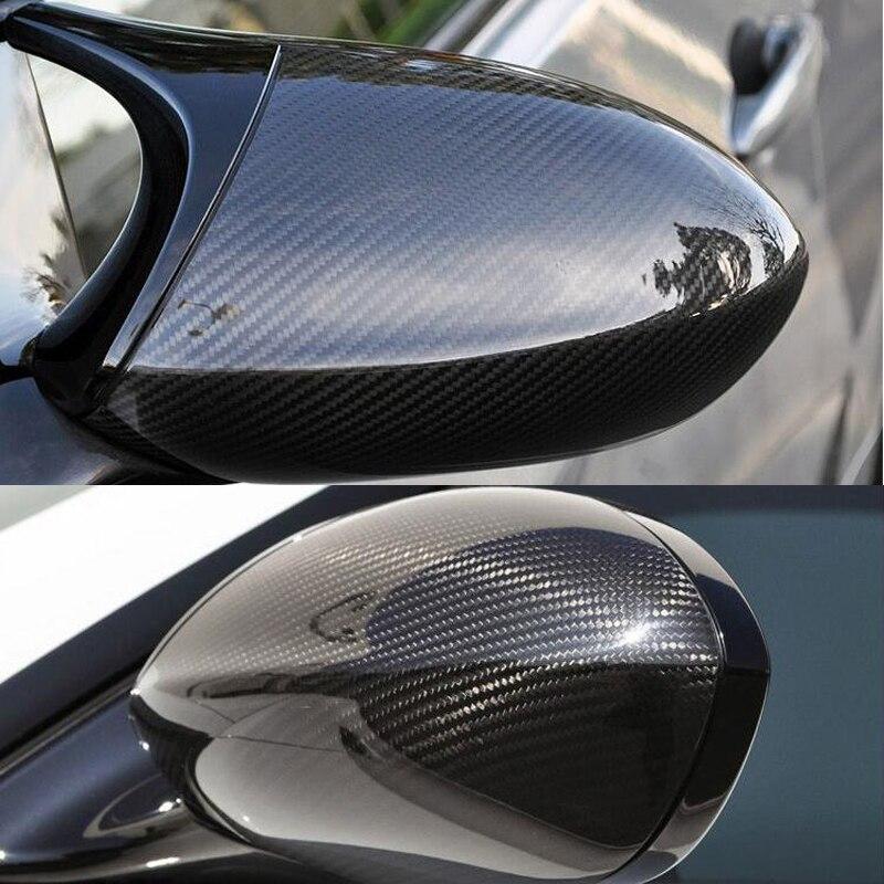 คุณภาพสูงสำหรับ BMW E92 M3 E82 1M 2008-2013 100% คาร์บอนไฟเบอร์ด้านหลังดูกระจกด้านข้างกระจกหมวกรถจัดแต่งทรงผ...