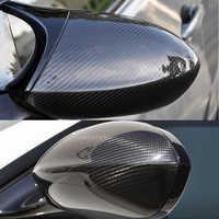 Wysokiej jakości dla BMW E92 M3 E82 1M 2008-2013 100% prawdziwe włókna węglowego pokrywa lusterka wstecznego boczne lustrzane nakrętki car styling