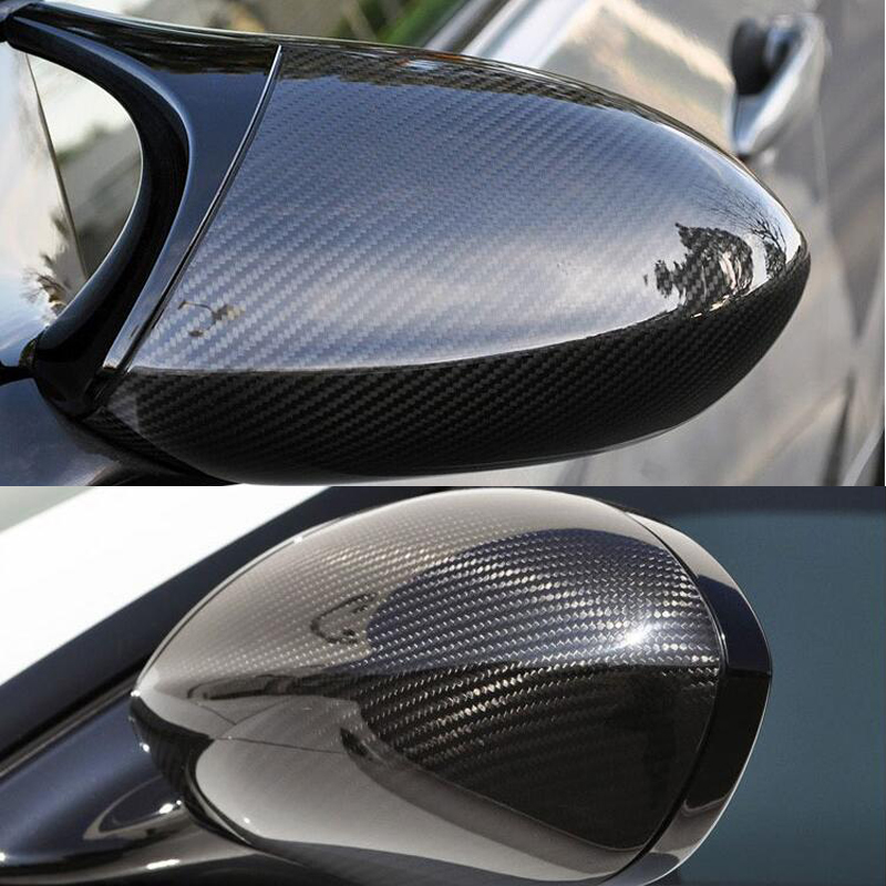 Yüksek kalite için BMW E92 M3 E82 1M 2008-2013 100% gerçek karbon Fiber dikiz aynası kapağı yan ayna kapakları araba styling