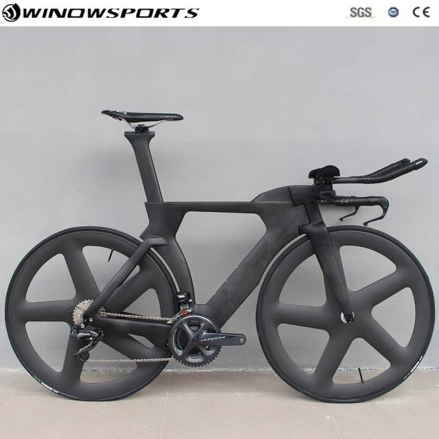 Chinese TT Bike aero carbon time trial bicycle triathlon TT bike with DI2 22 speed carbon tt bicycle bike frame 48/51/54/57cm