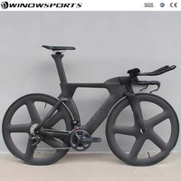 Chinese TT Bike aero carbon time trial bicycle triathlon TT bike with DI2 22 speed carbon tt bicycle bike frame 48/51/54/57cm